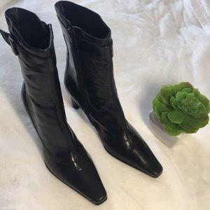 Via Spiga Vintage Black Leather Boot